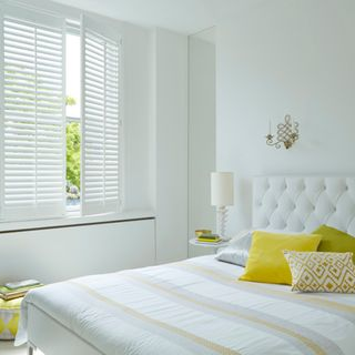 Pure White full height shutters
