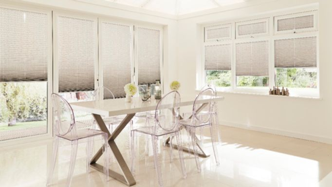 Silver Pleated blinds
