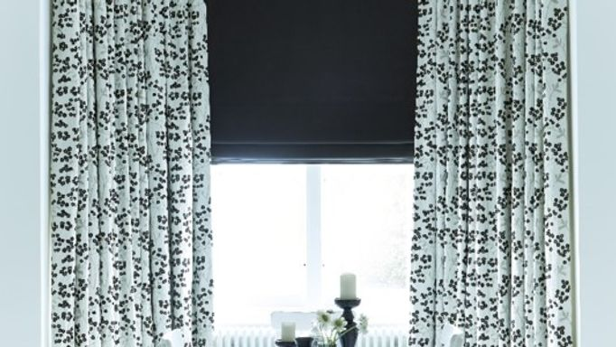 Black and white floral blinds - monochrome magic for your home