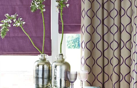 House Beautiful Celeste Curtains and Opulence Roman blind