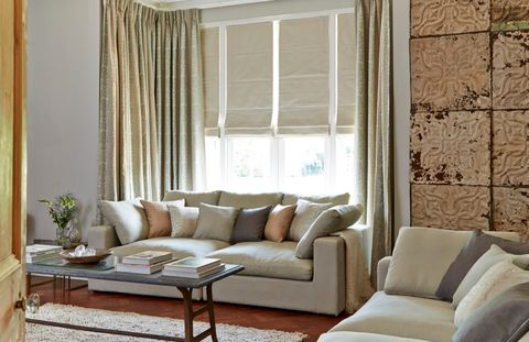 House Beautiful Baroque curtains and Opulence Roman blind