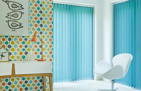 Acacia Teal Vertical blind