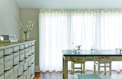 Lyra Ivory voile curtains