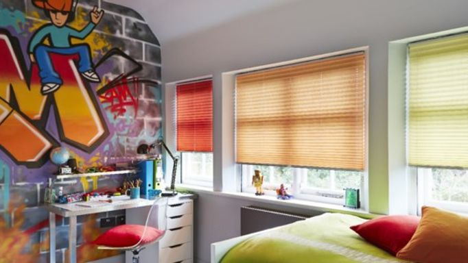 childrens pleated blinds