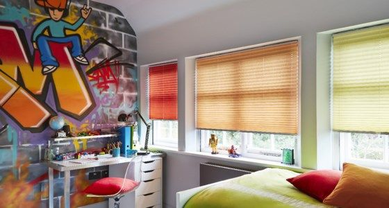 childrens pleated blinds -