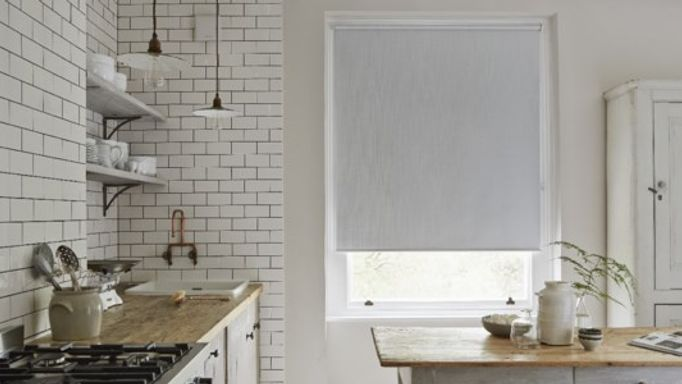 White kitchen Roller blind
