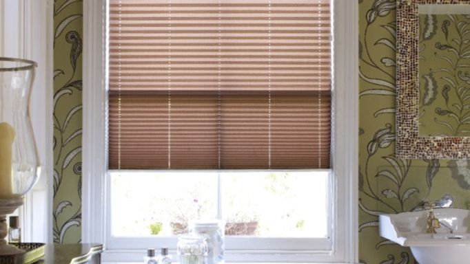 Brown Pleated blind