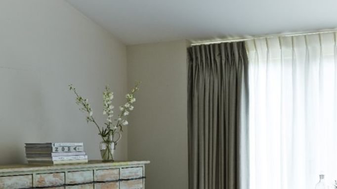 Silk curtains bedroom