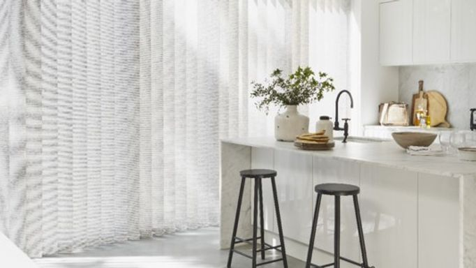 Patterned Kitchen Vertical blinds