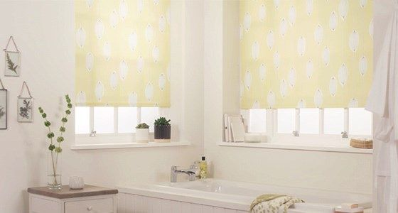 Perfect fit bathroom roller blind -