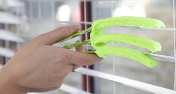 Using a blind cleaning tool -