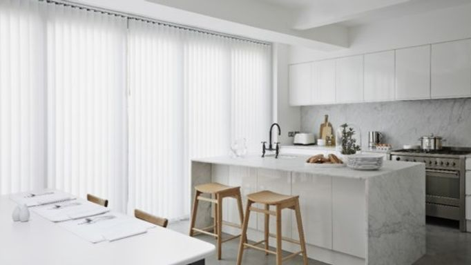 alma white vertical kitchen blind