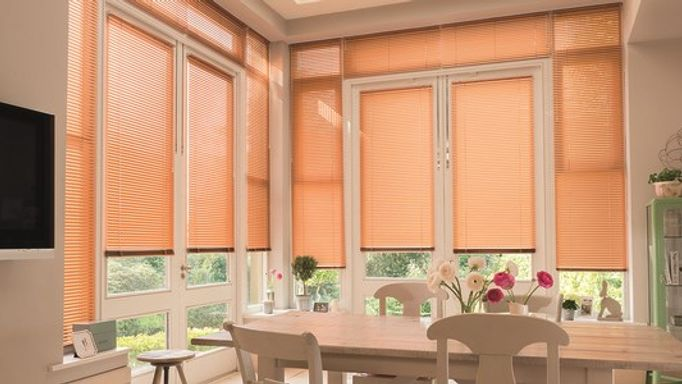 brushed copper venetian blinds