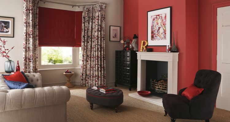 bohemia-berry-curtains-with-bardot-redcurrant-roman-blind-living-room