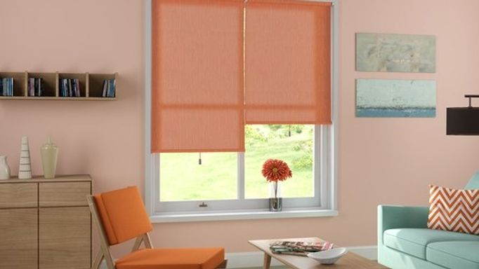 elderfield orange roller blinds