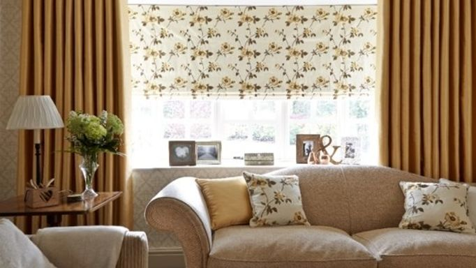 Erica Yellow Curtains and Lambay Yellow Roman blind