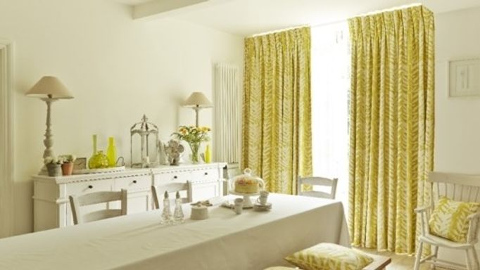 Isra Linden Yellow Curtains