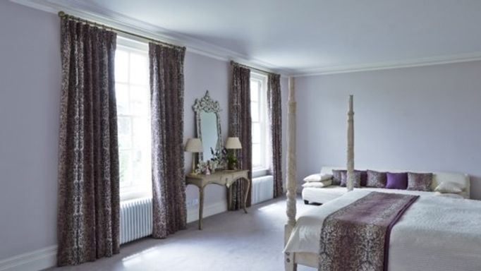 baroque mulberry curtains in bedroom