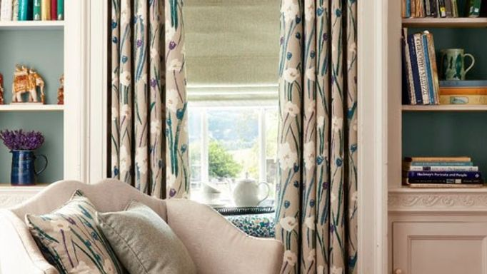 Wild-Poppies-Teal-Curtains