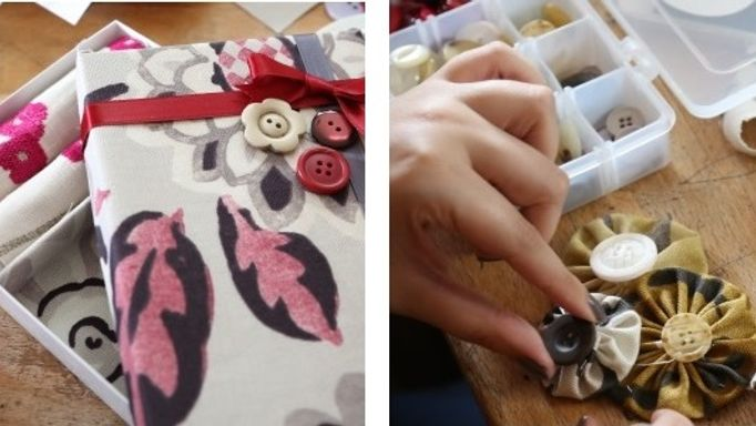 Adding embellishments to jewellery boxes