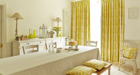 Yellow curtains -