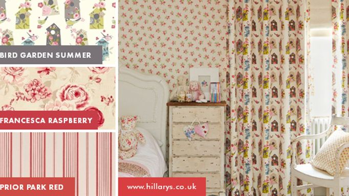 Red childrens curtains