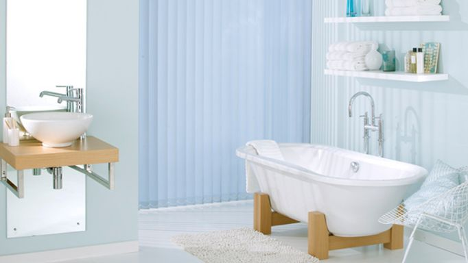 Waterproof Blinds for the bathroom - Blue vertical waterproof blinds