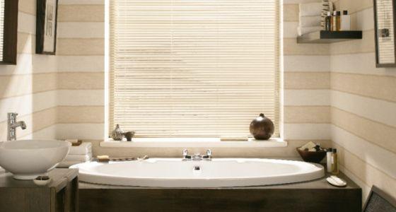 Vertical bathroom blinds