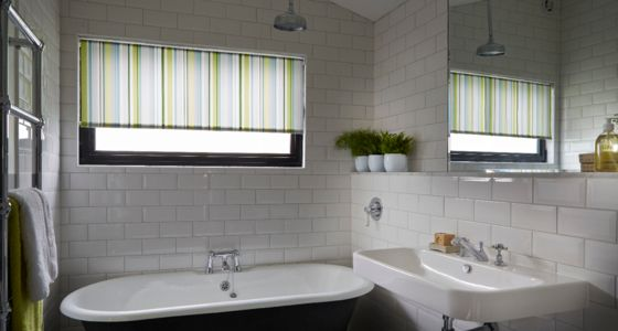 Bathroom roller blinds -