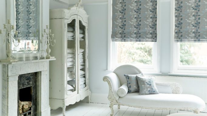 Bedroom Blind Ideas - Grey Roman Blind in the Bedroom