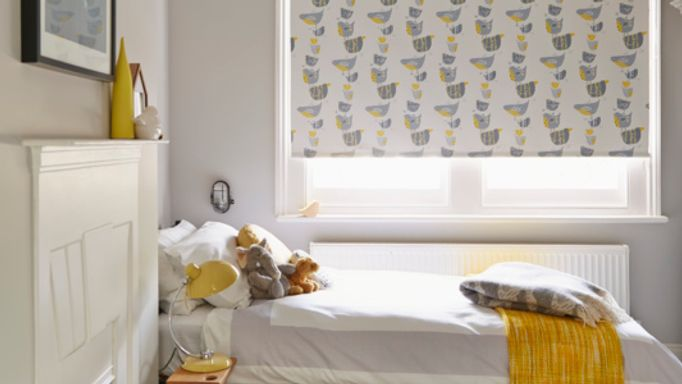 Bedroom Roller Blinds Idea - Bird Themed Roller Blinds in the Bedroom
