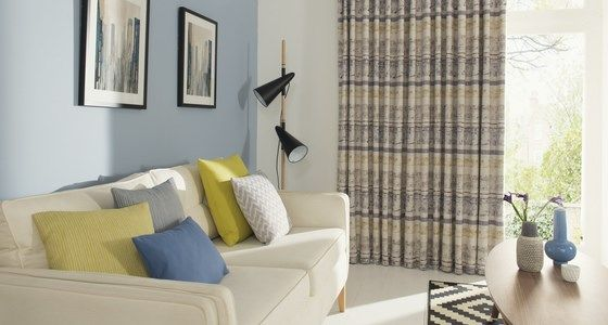Fjord Mineral Patterned Curtains -