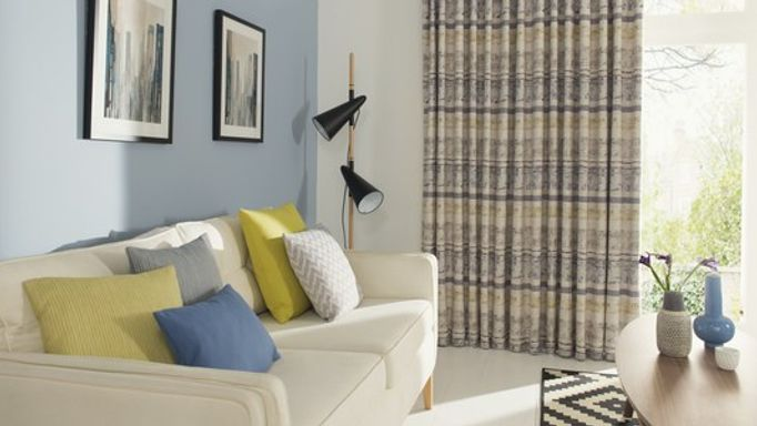 Fjord Mineral Patterned Curtains