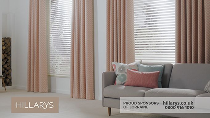 Salmon Living room Curtains