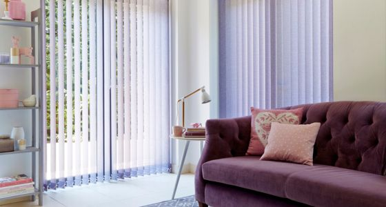 Pattie Violet Vertical blind -