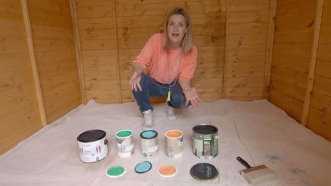 Sophie-selects-colours-for-the-She-Shed