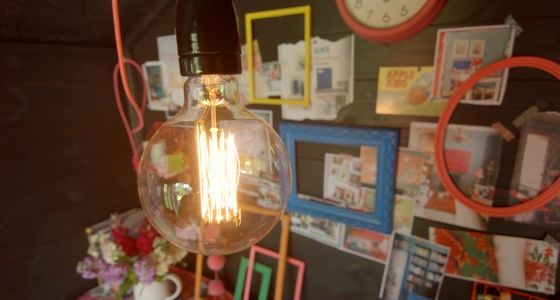 Lighting and storage solutions in Sophie Robinson's She Shed -