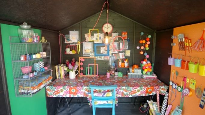 The-interior-of-Sophie-Robinson's-She-Shed