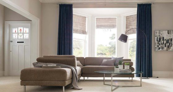 Element-Denim-curtains-with-Riviera-Dusk-Roman-blind-living-room -