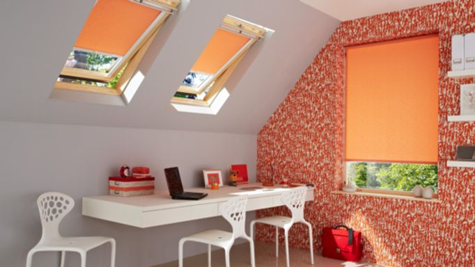 Sherbourne-Orange-Roller-blind-home-office