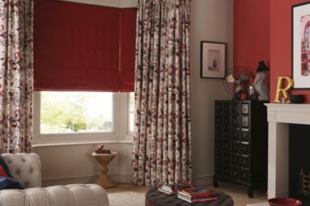 jewel the edit curtains with roman blind. Black Bedroom Furniture Sets. Home Design Ideas