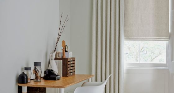 House-Beautiful-Rattan-Stone-curtain-with-Mineral-Chalk-roman-blind-home-office -