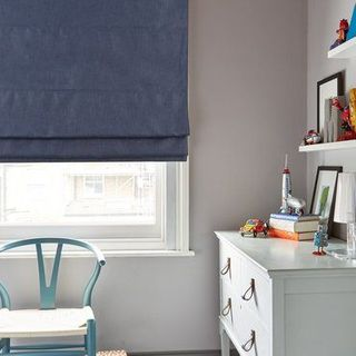 Roman Blind_Radiance Midnight Blue_Roomset