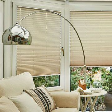 Pleated Blind_Elba Bisque_Conservatory