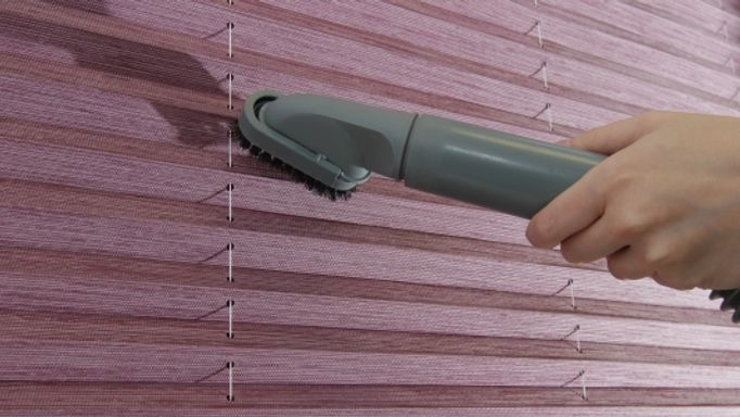 Vacuuming pleated blinds