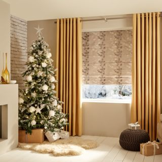 Bardot-Gold-Curtains-with-Stylish-Silver-Roman-blind