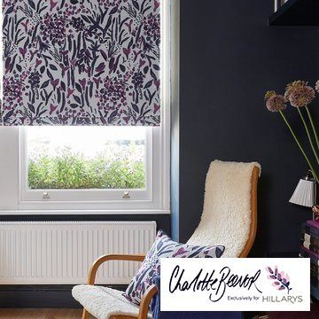 Sorana Violet Roman Blind from the Charlotte Beevor Range