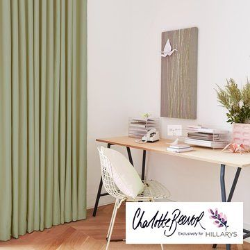 Green-curtain---study---radiance-zest