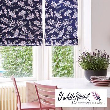 Petala Indigo Blue Roman Blind in the kitchen