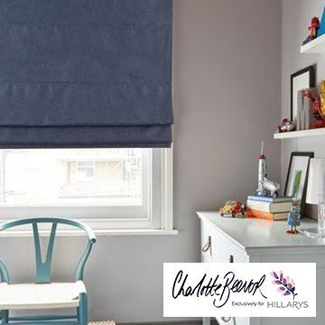 Radiance Midnight blue roman blind